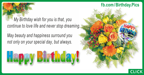 Yellow Flowers Bouquet Happy Birthday Card