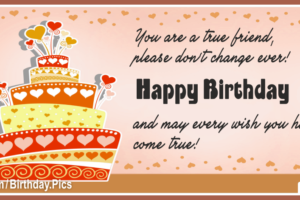 You True Friend Happy Birthday Card