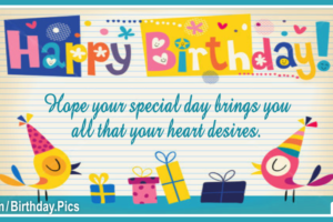 Your Heart Desire Happy Birthday Card
