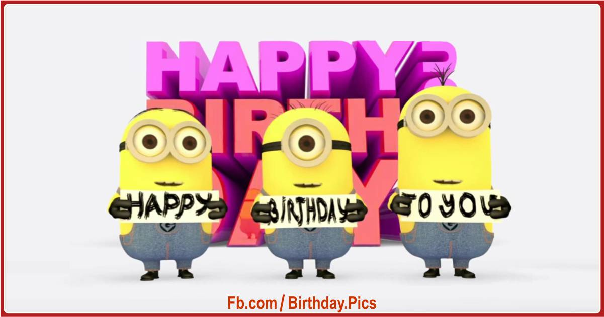 minions happy birthday 1 feat