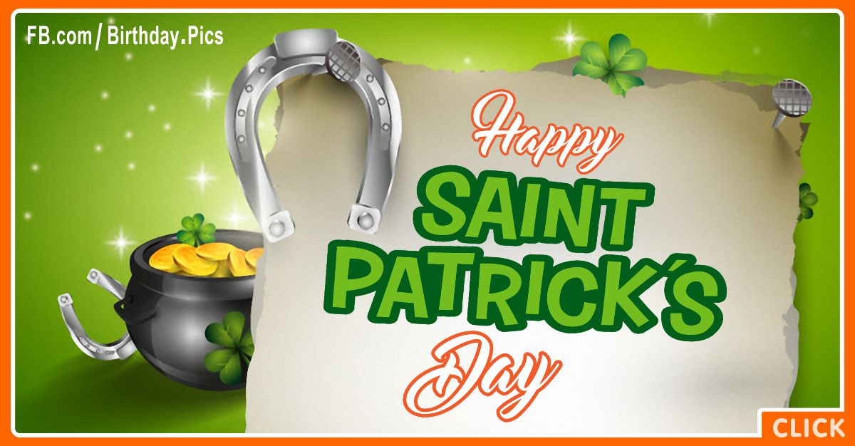 Happy Saint Patrick's Day Card with Gifting Diamond Tips for celebrating