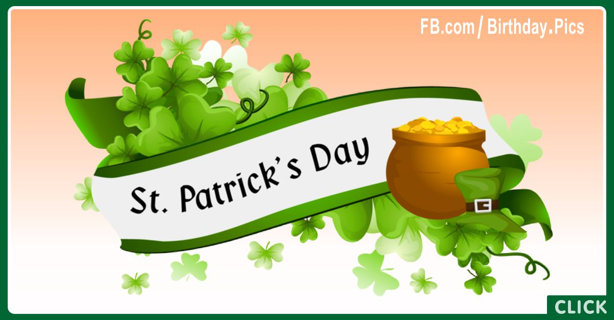 Happy Saint Patrick's Day Banner with Gifting Diamond Tips for celebrating