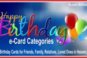 Birthday Card Categories