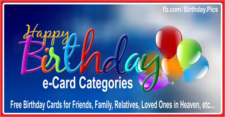 Birthday Cards Categories