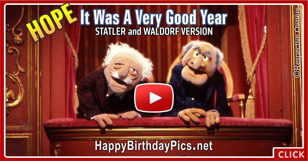 It Was A Very Good Year Happy Birthday Card