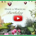 Magical forest happy birthday