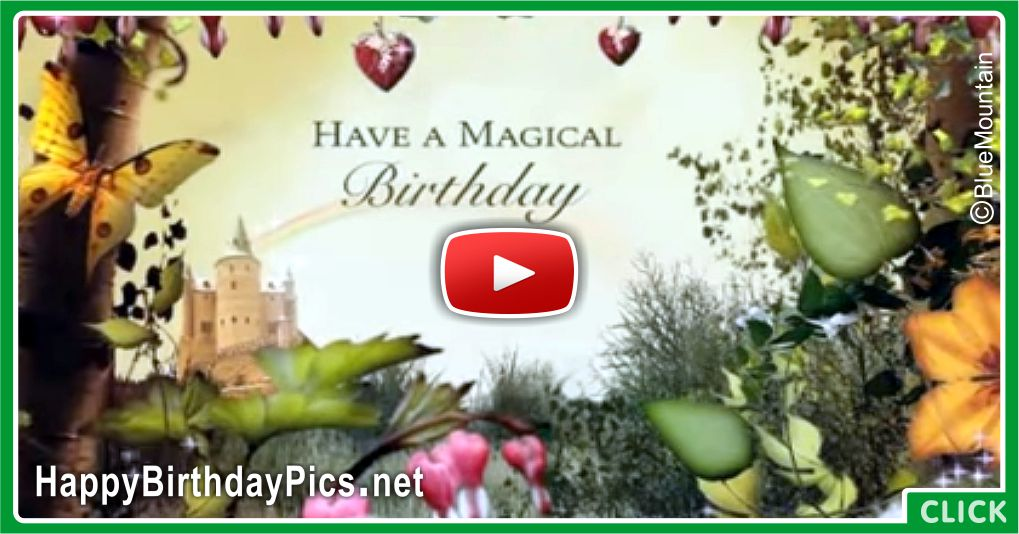 Magical Forest Happy Birthday Card