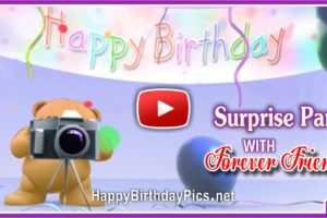 Happy Birthday Surprise Party Forever Friends Video