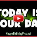 Happy birthday video with text - featured