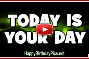 Happy Birthday To You With Text Video
