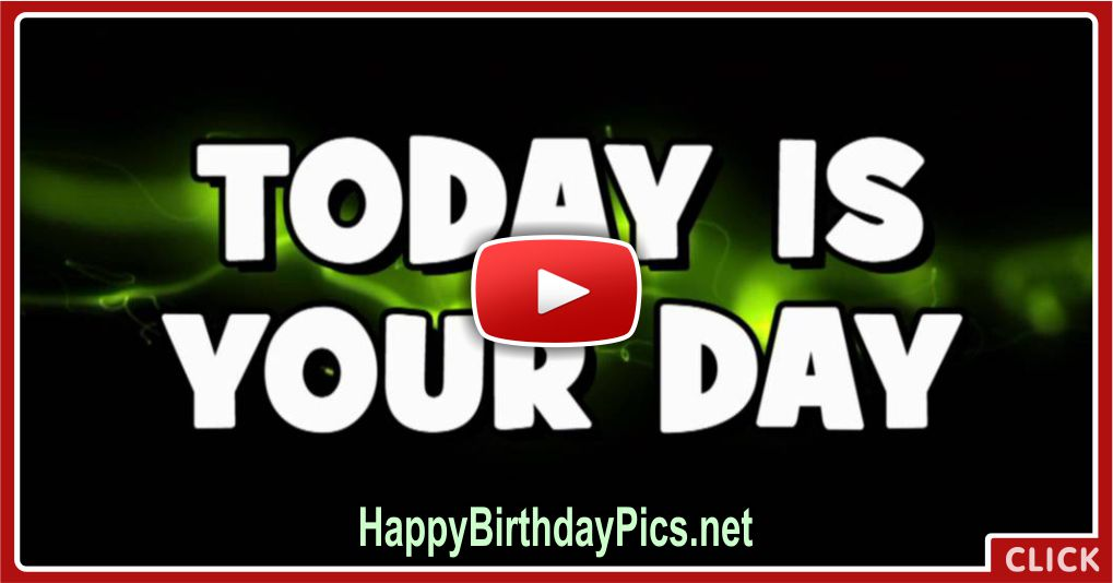 Happy Birthday To You With Text Video Card