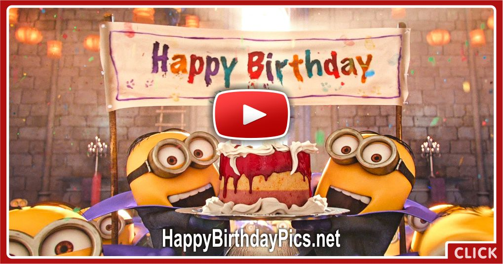 Happy Birthday To You With Minions Video Card