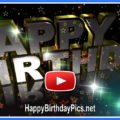 3D Happy Birthday Gold Animation For You