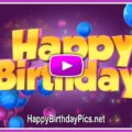 3D Birthday Message Dancing Letters - featured