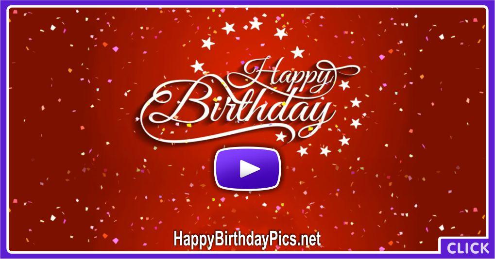 Happy Birthday Confetti Animation