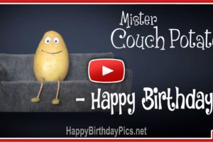 Mister Couch Potato Birthday Song