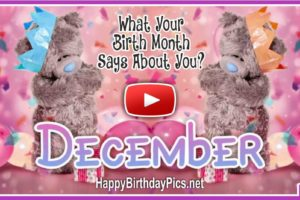 What Your Birth Month December Says About You?