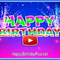 Colorful happy birthday motion video - featured