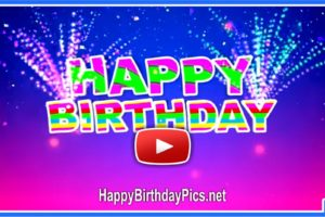 Colorful Happy Birthday Motion Video