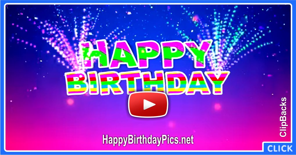 Colorful Happy Birthday Video