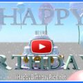 Happy birthday cake 3d animation with a bunny - featured