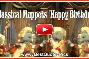 Classical Muppets Happy Birthday to You Song Video