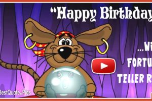 Fortune Teller Rat Happy Birthday ECard Video
