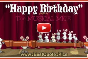 Musical Mice Are Playing Flute For Your Birthday