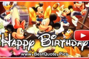 Happy Birthday With Mickey Mouse Orchestra Video