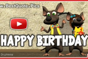 Mice Singing Happy Birthday To You Video