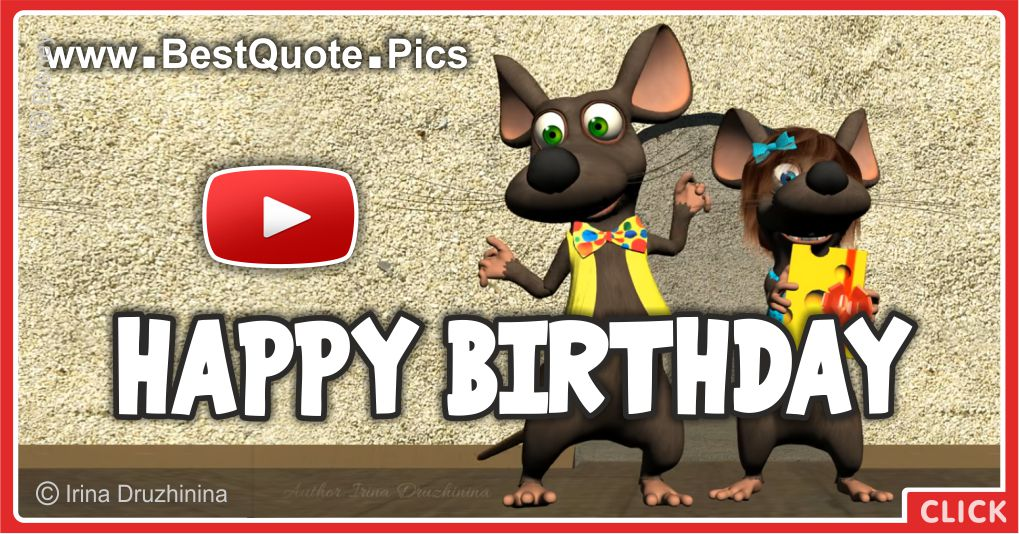 Make Your Guests Happy With The 20 Funniest Entrance Songs: Mice Singing Happy Birthday To You Video : Happy Birthday