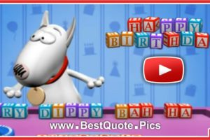 Smart Dog Happy Birthday Message Video