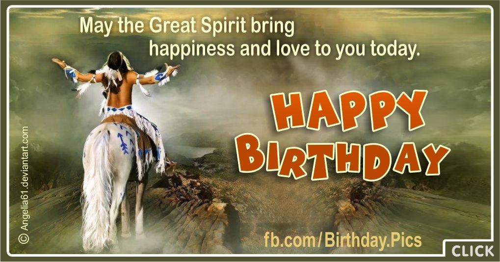 May Great Spirit Bring Happiness - Native American Greeting