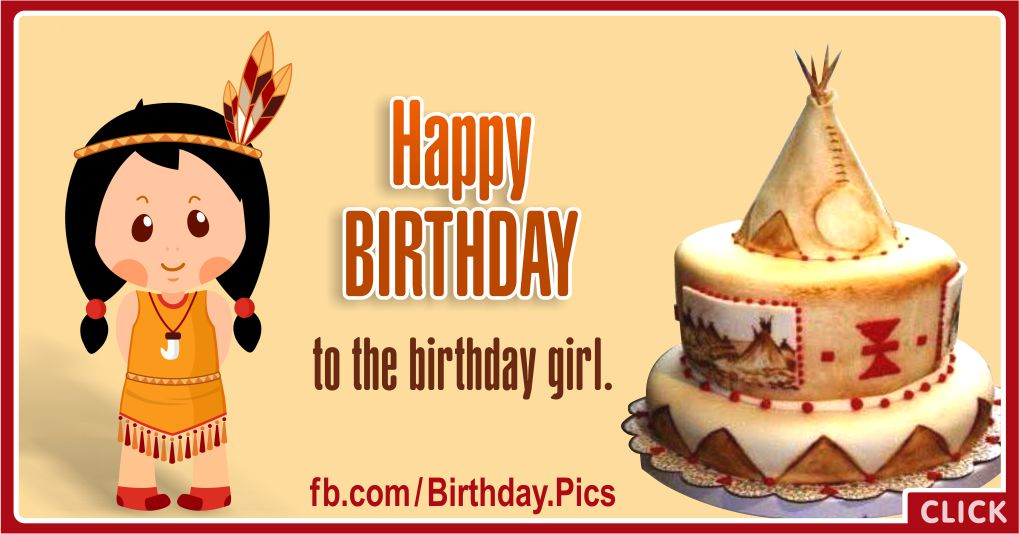 Happy Birthday Native American Birthday Girl Greeting
