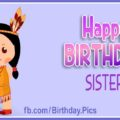 Happy Birthday Sister, Native American Style Card