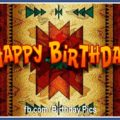 Birthday Card with Native American Rug Pattern 1
