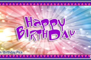 Happy Birthday with Modern Native American Card
