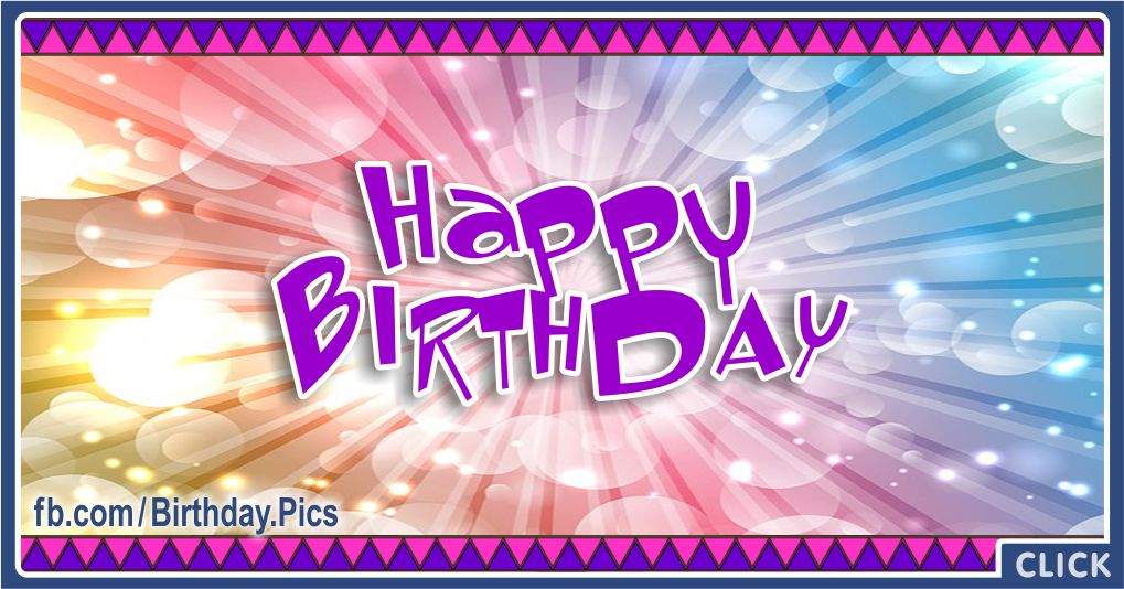 Happy Birthday with Modern Native American Card Greeting