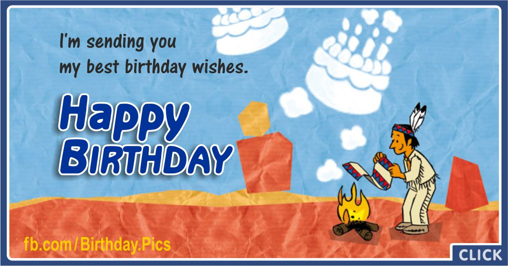 Smoke Signals Native American Birthday Wishes Greeting