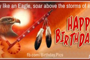 Happy Birthday with Native American Symbols