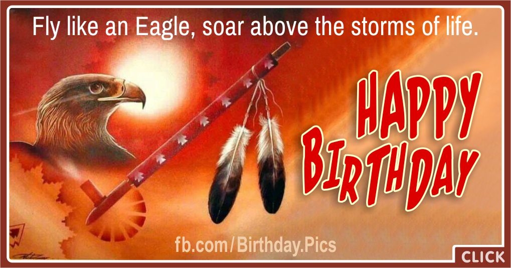 Happy Birthday with Native American Symbols Greeting