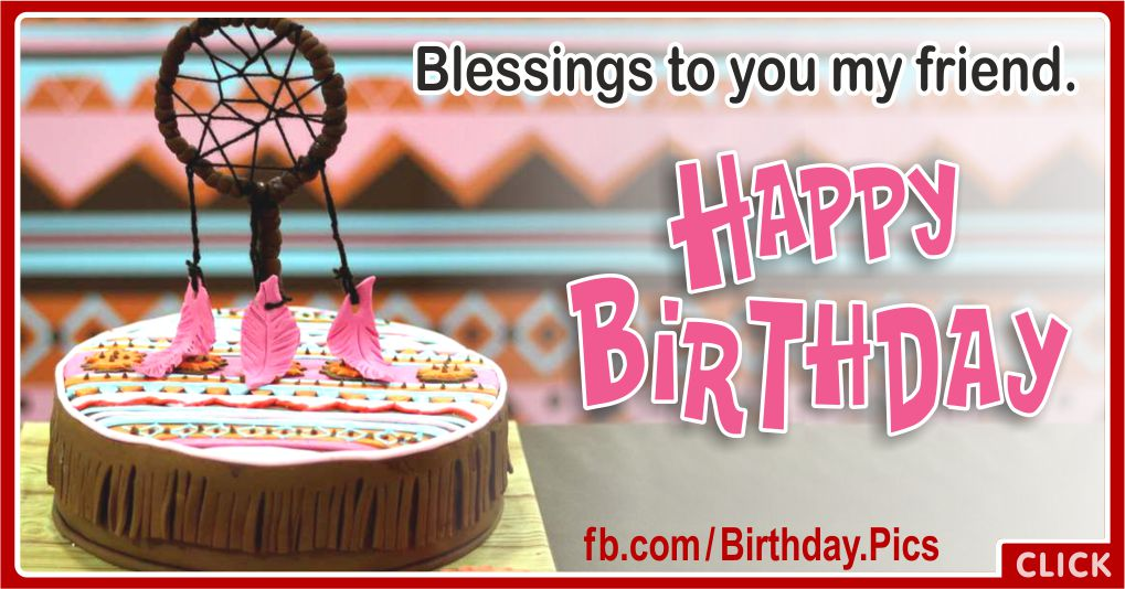 Dream Catcher Birthday Blessings Greeting