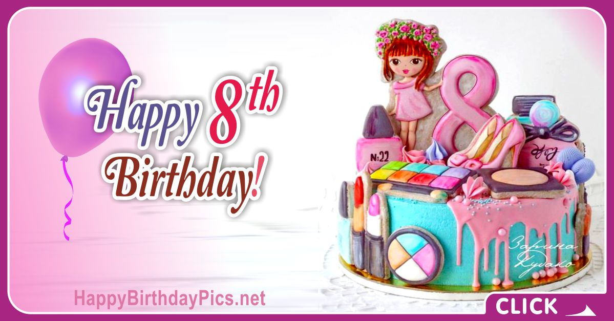 Fancy Girl 8th Birthday Card Equivalents