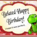 Happy Birthday Belated By Tortoise