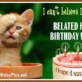Belated Birthday Wishes With Kitty