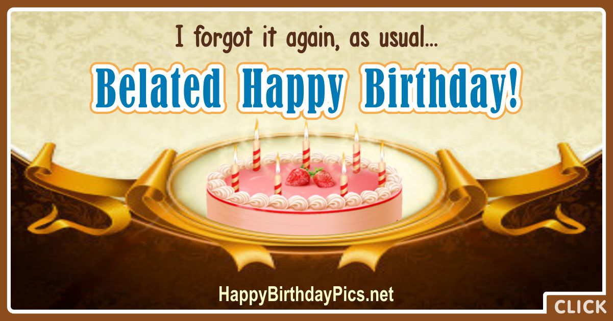 Belated Happy Birthday Cards 5