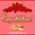 Engagement Wedding Congratulations Card