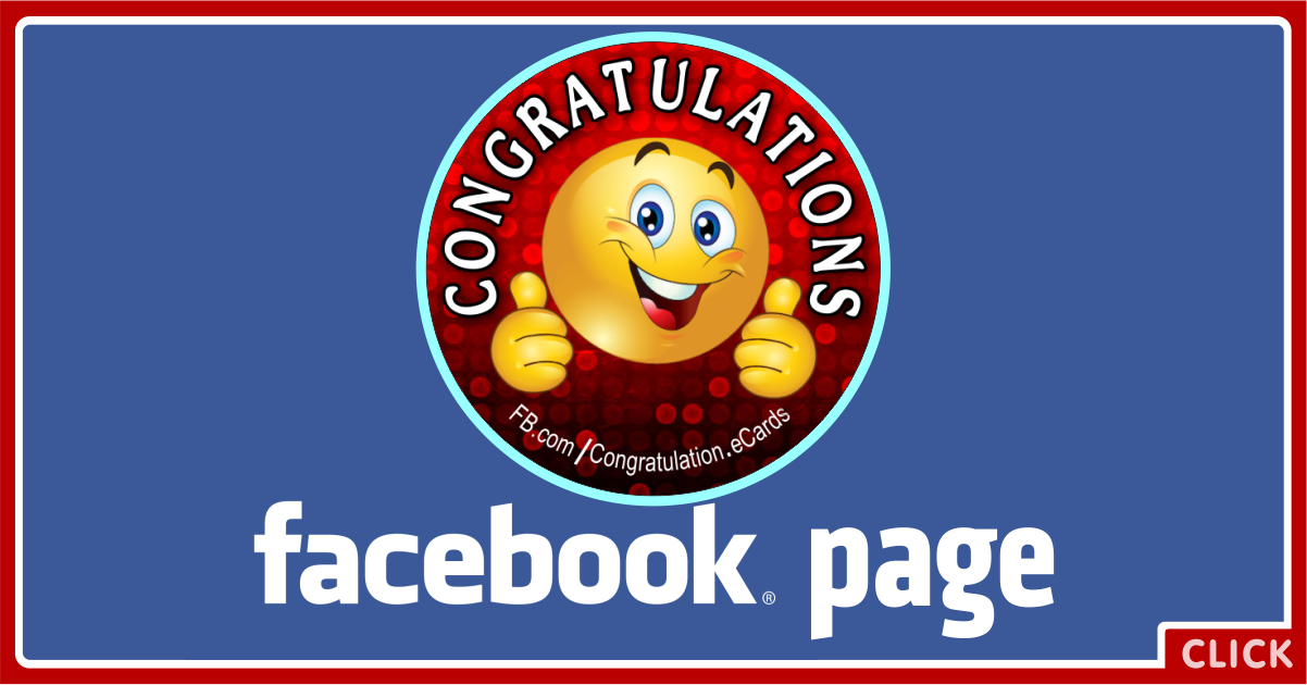 Congratulations Facebook Page Card
