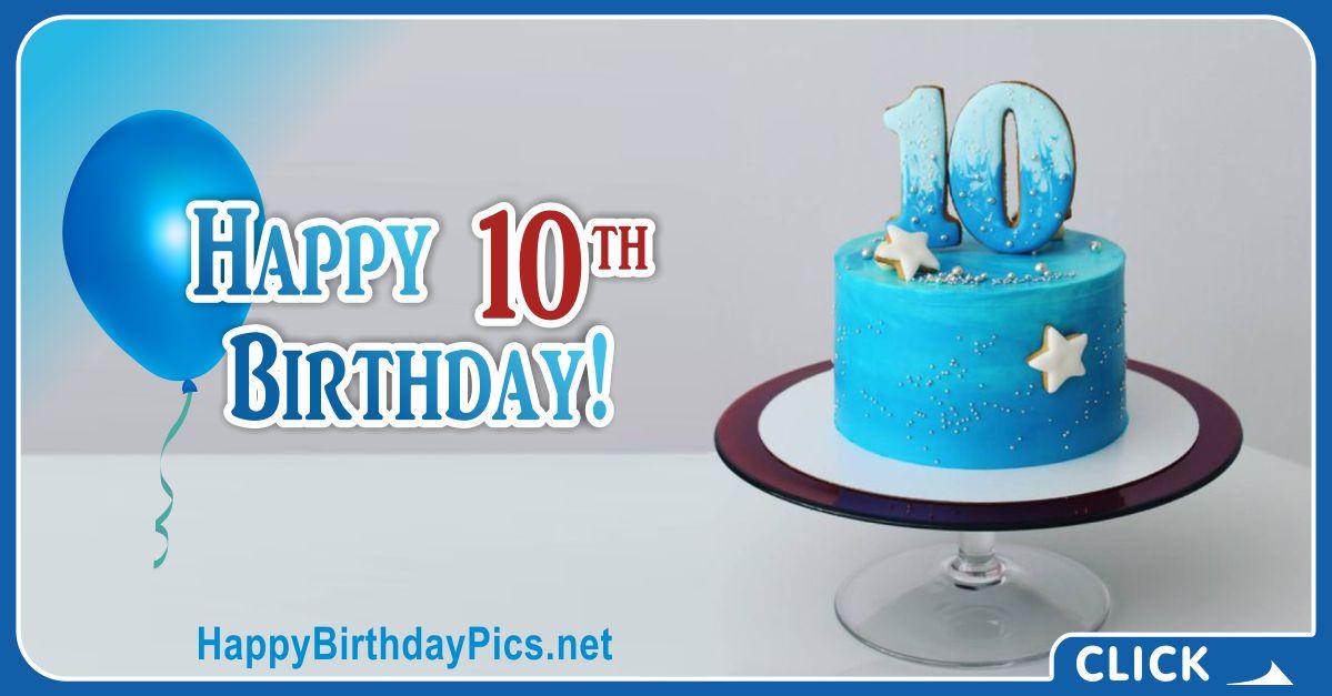 Sea-Blue Cake 10th Birthday Card Equivalents