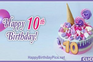 Pastel Colors 10th Birthday Card